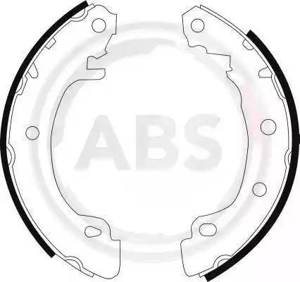 A.B.S. 8988 - Bremžu komplekts, trumuļa bremzes autodraugiem.lv