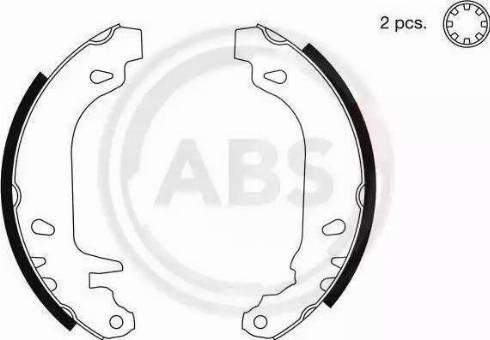 A.B.S. 8932 - Bremžu komplekts, trumuļa bremzes autodraugiem.lv