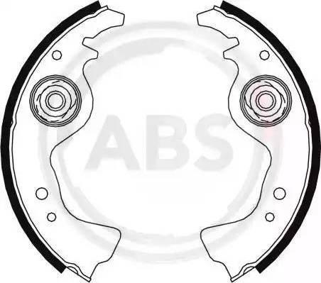 A.B.S. 8004 - Bremžu komplekts, trumuļa bremzes autodraugiem.lv