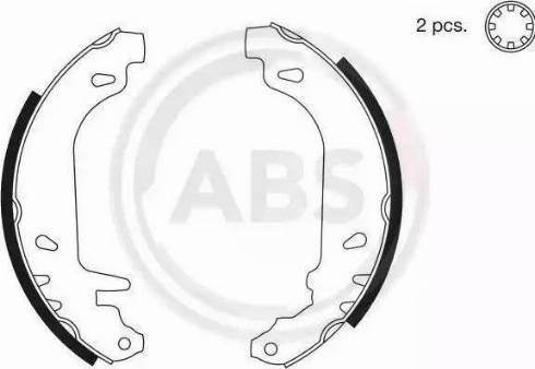 A.B.S. 8135 - Bremžu komplekts, trumuļa bremzes autodraugiem.lv