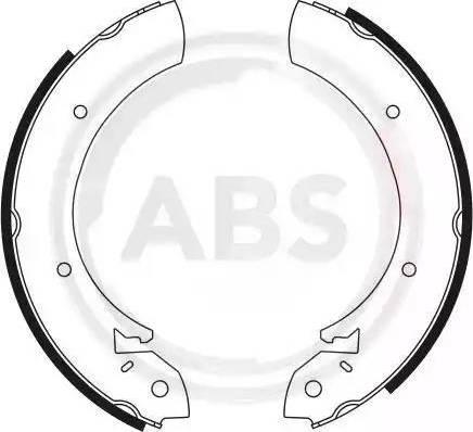 A.B.S. 8125 - Bremžu komplekts, trumuļa bremzes autodraugiem.lv