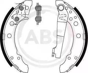 A.B.S. 8772 - Bremžu komplekts, trumuļa bremzes autodraugiem.lv
