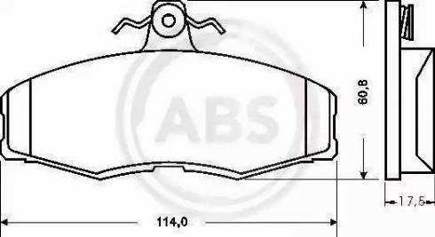 A.B.S. 36516 - Bremžu uzliku kompl., Disku bremzes autodraugiem.lv