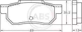 A.B.S. 36619 - Bremžu uzliku kompl., Disku bremzes autodraugiem.lv