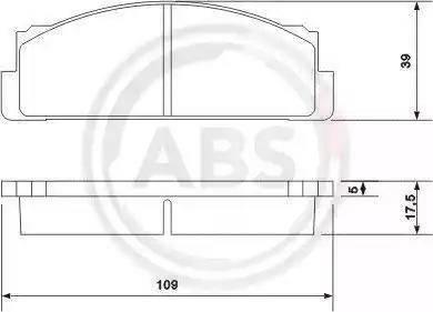 A.B.S. 36004 - Bremžu uzliku kompl., Disku bremzes autodraugiem.lv