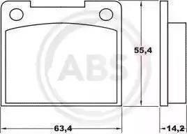 A.B.S. 36037 - Bremžu uzliku kompl., Disku bremzes autodraugiem.lv