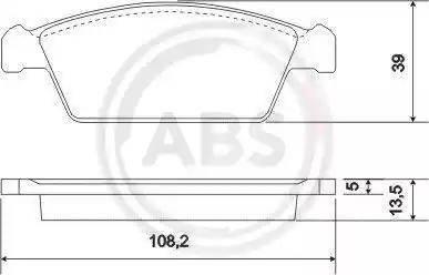 A.B.S. 37002 - Bremžu uzliku kompl., Disku bremzes autodraugiem.lv