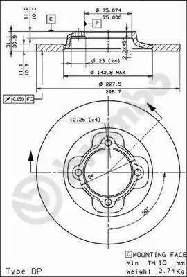 AP 19006 - Bremžu diski autodraugiem.lv
