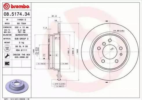 AP 14464 E - Bremžu diski autodraugiem.lv