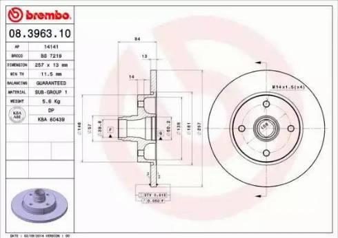 AP 14141 - Bremžu diski autodraugiem.lv