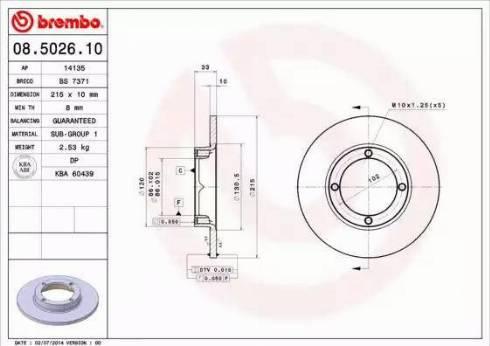 AP 14135 - Bremžu diski autodraugiem.lv