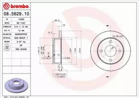 AP 14385 - Bremžu diski autodraugiem.lv