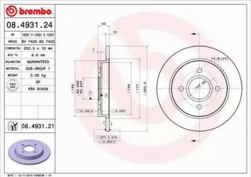 AP 14331 E - Bremžu diski autodraugiem.lv