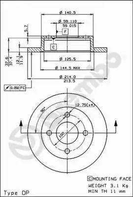 AP 14220 - Bremžu diski autodraugiem.lv