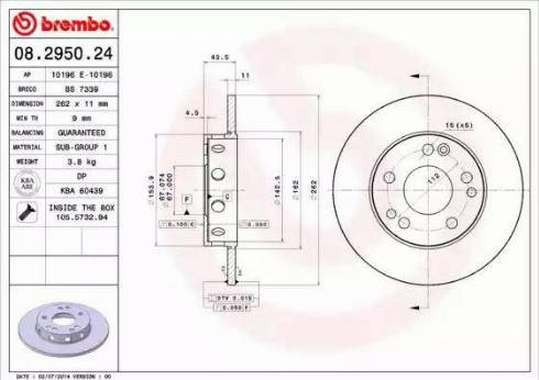 AP 10196 E - Bremžu diski autodraugiem.lv