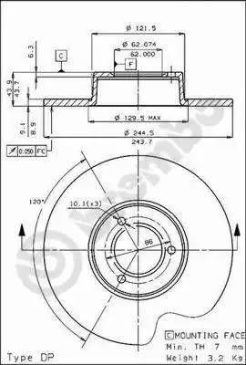 AP 10152 - Bremžu diski autodraugiem.lv