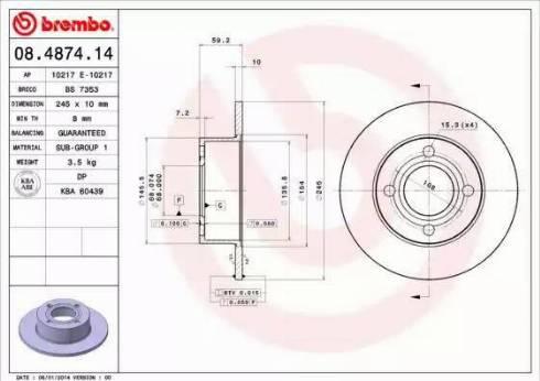AP 10217 E - Bremžu diski autodraugiem.lv