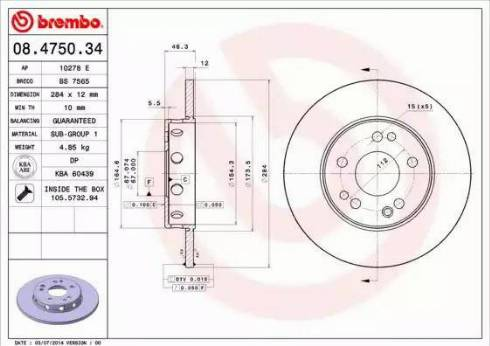 AP 10278 E - Bremžu diski autodraugiem.lv