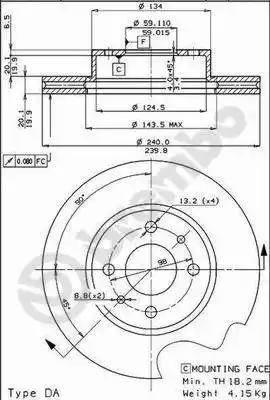 AP 24143 - Bremžu diski autodraugiem.lv