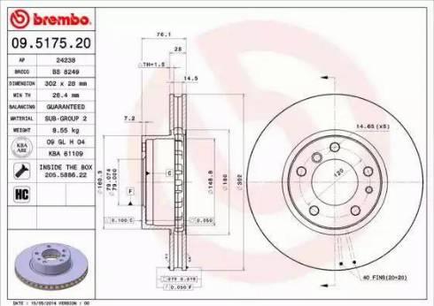 AP 24238 - Bremžu diski autodraugiem.lv