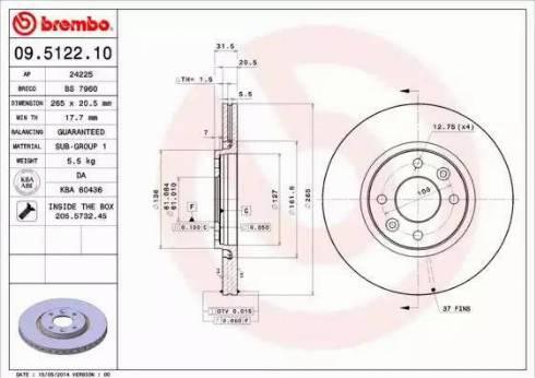 AP 24225 - Bremžu diski autodraugiem.lv