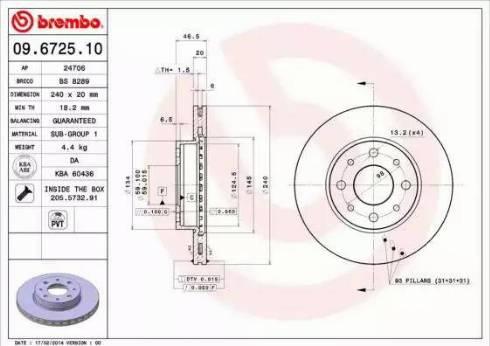 AP 24706 - Bremžu diski autodraugiem.lv