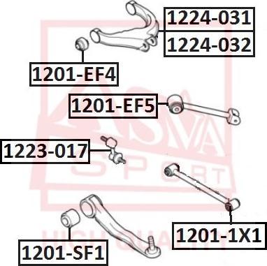 ASVA 1201-1X1 - Saylentblok, riteņa balstiekārtas sviras autodraugiem.lv