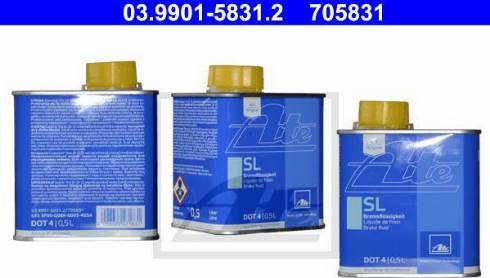 ATE 03.9901-5831.2 - Bremžu šķidrums autodraugiem.lv