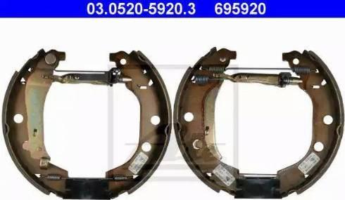 ATE 03.0520-5920.3 - Bremžu komplekts, trumuļa bremzes autodraugiem.lv