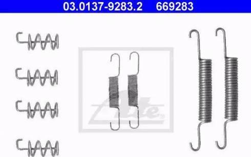 ATE 03.0137-9283.2 - Piederumu komplekts, Stāvbremzes mehānisma bremžu loks autodraugiem.lv
