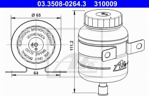 ATE 03.3508-0264.3 - Kompensācijas tvertne, Bremžu šķidrums autodraugiem.lv