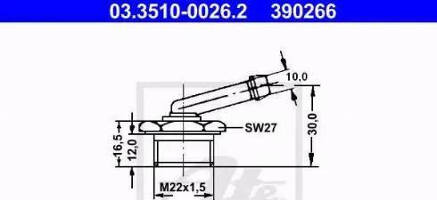 ATE 03.3510-0026.2 - Adapteris, Bremžu cauruļvadi autodraugiem.lv
