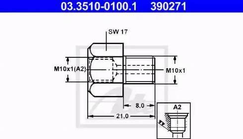 ATE 03.3510-0100.1 - Adapteris, Bremžu cauruļvadi autodraugiem.lv