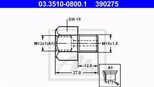 ATE 03.3510-0800.1 - Adapteris, Bremžu cauruļvadi autodraugiem.lv