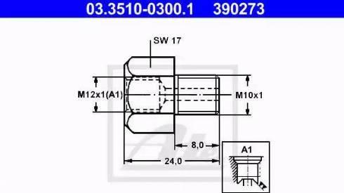 ATE 03.3510-0300.1 - Adapteris, Bremžu cauruļvadi autodraugiem.lv