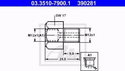 ATE 03.3510-7900.1 - Adapteris, Bremžu cauruļvadi autodraugiem.lv