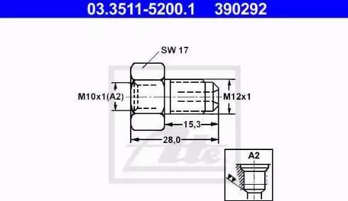 ATE 03.3511-5200.1 - Adapteris, Bremžu cauruļvadi autodraugiem.lv