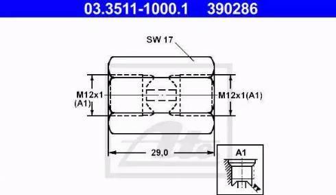 ATE 03.3511-1000.1 - Adapteris, Bremžu cauruļvadi autodraugiem.lv