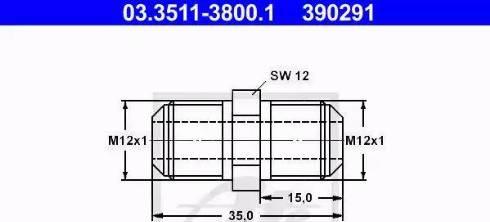 ATE 03.3511-3800.1 - Adapteris, Bremžu cauruļvadi autodraugiem.lv