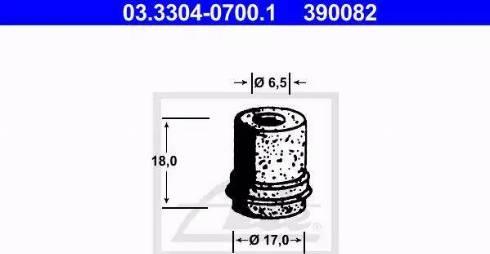 ATE 03.3304-0700.1 - Vāciņš, Bremžu šķidruma tvertne autodraugiem.lv
