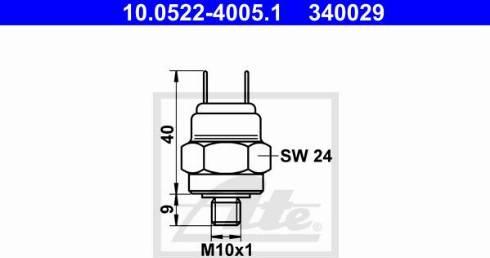 ATE 10.0522-4005.1 - Spiediena slēdzis, Hidrobremžu iekārta autodraugiem.lv