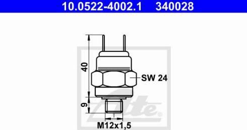ATE 10.0522-4002.1 - Spiediena slēdzis, Hidrobremžu iekārta autodraugiem.lv