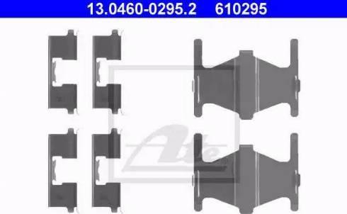 ATE 13.0460-0295.2 - Piederumu komplekts, Disku bremžu uzlikas autodraugiem.lv