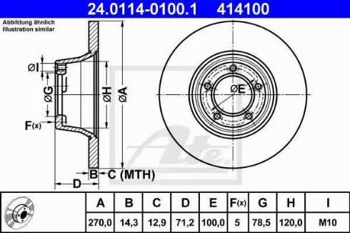 ATE 24.0114-0100.1 - Bremžu diski autodraugiem.lv