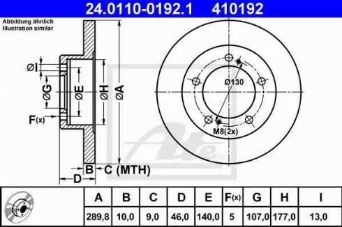 ATE 24.0110-0192.1 - Bremžu diski autodraugiem.lv