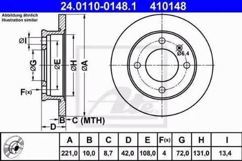 ATE 24.0110-0148.1 - Bremžu diski autodraugiem.lv