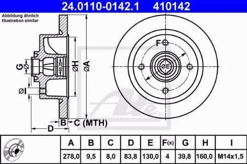 ATE 24.0110-0142.1 - Bremžu diski autodraugiem.lv