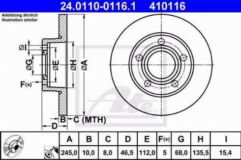 ATE 24.0110-0116.1 - Bremžu diski autodraugiem.lv