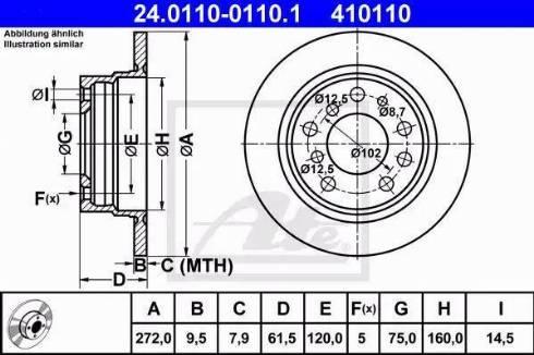 ATE 24.0110-0110.1 - Bremžu diski autodraugiem.lv