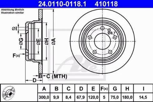 ATE 24.0110-0118.1 - Bremžu diski autodraugiem.lv
